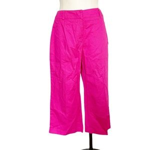 NWT Cropped Length Stretch Hot Pink Pant